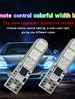 cheap -1 Set Car RGB LED 12V T10 LED RGB 5050 6SMD Remote Controller Car LED Remote Control Width Indicator Light Universal Signal Lamp Car Accessories Car Light