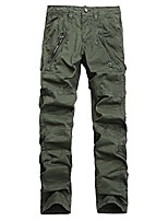 cheap -multi-pocket men's military cargo pants loose style pants tactical casual long trousers joggers army green 38