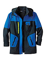 cheap -men's big & tall colorblock tech parka - big - 5xl, black cobalt coat
