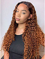 cheap -runm long curly wig for black women natural glueless heat resistant synthetic kinky curly wigs for black women 2 tone 26 inch(#1b/30b)