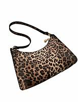 cheap -zebra/leopard/cow pattern baguette bag, lightweight women single shoulder bag tote bag with smooth zipper, french niche messenger underarm bag for women