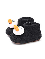 cheap -Boys' Girls' Boots Snow Boots Suede Little Kids(4-7ys) Walking Shoes White Black Brown Fall Winter / Booties / Ankle Boots