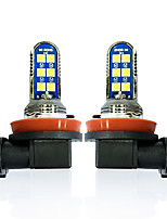 cheap -OTOLAMPARA 2 Units Car LED Fog Lamp H11 H9 12W Third Generation Light Source Orange Color Double Sides LED Fog Lamp Bulb H8 Plug and Play Installation