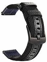 cheap -watch bands for fossil gen 5 carlyle/gen 5 julianna, quick release premium nylon with leather strap wrist band for 22mm fossil gen 4 explorist hr/gen 3 q explorist. black