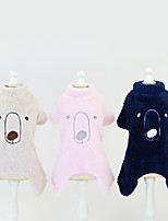 cheap -Dog Jumpsuit Solid Colored Basic Cute Casual / Daily Winter Dog Clothes Puppy Clothes Dog Outfits Breathable Yellow Blue Pink Costume for Girl and Boy Dog Plush S M L XL XXL