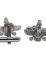 cheap -iranian persian farvahar faravahar cufflinks iran persia pahlavi farohar gift (silver plated)