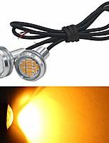 cheap -2-pack eagle eye lights amber 4014 12-smd 20mm eagle eye led bulbs daytime running lights reverse tail brake turn signal light tail backup lights marker lights 12v