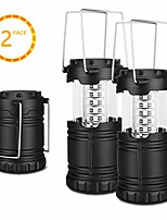 cheap -led camping lantern with 30 lights 360°illuminate waterproof collapisble lantern 2 packs ultra-lights flashlight for family & outdoors (black)