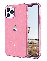 cheap -compatible with iphone 12 pro max case 6.7 inch 2020, clear glitter shockproof protective case,bling soft anti-scratch tpu cover (rose gold)