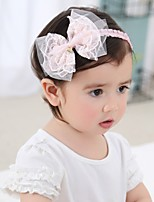 cheap -1pcs Infant Girls' Active / Sweet Floral Mesh Rayon Hair Accessories White / Blushing Pink