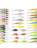 cheap -43 pcs Lure kit Fishing Lures Minnow Crank Popper Vibration / VIB Lure Packs Bass Trout Pike Bait Casting