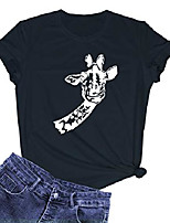 cheap -women causal cute graphic printed tops summer short sleeve tshirts black large