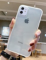"cheap -crystal clear case for iphone 11,matte shock-absorption bumper edge silicone tpu soft gel phone cover for apple iphone 11 6.1"" (2019) - clear transparent"