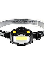 cheap -3w fishing headlamps camping lightweight led cob head light outdoor for hiking fishing camping (black)