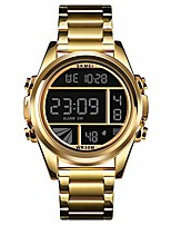 cheap -mens watches fashion waterproof led digital sport watch multi function outdoor waterproof military watch (gold)
