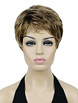 "cheap -6"" short straight wavy women wigs hair synthetic full wig (ab607)"