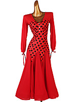cheap -Ballroom Dance Dress Pattern / Print Women's Performance Long Sleeve Spandex