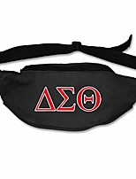 cheap -unisex delta sigma theta print fanny pack waist packs phone holder adjustable running belt for cycling,hiking,gym