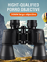 cheap -Eyeskey 10 X 50 mm Binoculars Porro Outdoor Antiskid Wide Angle Zoom Fully Multi-coated BAK4 Hunting and Fishing Camping / Hiking / Caving Everyday Use Spectralite Coating