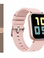 cheap -smart watch for android phones iphone for men women, fitness tracker watch with heart rate and sleep monitor, waterproof activity tracker (pink/extra band)