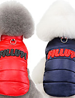 cheap -Dog Cat Coat Jacket Letter & Number Classic Casual / Daily Winter Dog Clothes Puppy Clothes Dog Outfits Breathable Red Blue Costume for Girl and Boy Dog Polyster S M L XL XXL