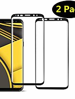 cheap -[2-pack] galaxy s8 tempered glass screen protector,[black][case-friendly][no bubbles][easy to install][anti fingerprint][full coverage] screen protector compatible samsung galaxy s8