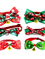 cheap -Dog Cat Collar Christmas Dog Collar Tie / Bow Tie Adjustable Flexible Outdoor Santa Claus Snowman Christmas Tree Polyester Golden Retriever Corgi Bulldog Bichon Frise Schnauzer Poodle Green 1pc