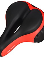 cheap -bike seat replacement padded comfortable bicycle seat with shock absorbing springs- best bike saddle cushion for bicycles and bikes-improves riding comfort (red/black)