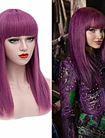 cheap -long purple wigs for kids straight cosplay wig anime costume party wig s037
