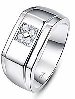 cheap -silver cubic zirconia eternity ring wedding enagement band for men bridegroom size y