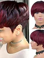 cheap -straight pixie cut human hair wigs with bangs brazilian human hair wigs for black women short human hair wig (ot530)