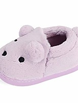 cheap -boys girls warm slippers cute animal toddler kids winter indoor outdoor household shoes, purple 5-6 toddler