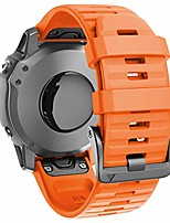 cheap -compatible with fenix 6 bands 22mm easy-fit soft silicone watch band replacement for fenix 6/fenix 6 pro/fenix 5/fenix 5plus smartwatches, orange