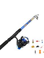cheap -Fishing Rod and Reel Combo Telespin Rod 180 cm Portable Telescopic Lightweight Light (L) Sea Fishing Freshwater Fishing Bass Fishing / Trolling & Boat Fishing