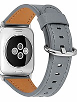 cheap -compatible iwatch band, 42mm 44mm,top genuine leather band replacement strap with stainless steel clasp for iwatch series 6/ 5/ 4/ 3/2/1,se,sport, edition (dark grey+silver buckle, 42mm44mm)