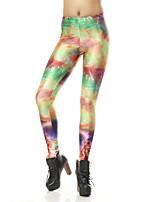 cheap -Women's Sporty Comfort Skinny Gym Yoga Leggings Pants Print Full Length High Waist Orange