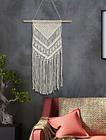 cheap -Hand Woven Macrame Wall Tapestry Bohemian Boho Art Decor Blanket Curtain Hanging Home Bedroom Living Room Decoration Nordic Handmade Tassel Cotton