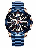 cheap -quartz luminous man watch fashion sport stainless steel watches 3atm waterproof wristwatch chronograph watches