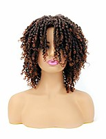 cheap -dreadlocks wigs short afro twist wig for black women 6 inch kinky curly faux locs synthetic braided wig ombre dread crochet locs hair soft goddess locs braids wig (synthetic 6 inch, t1b/30)