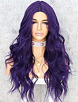 cheap -synthetic none lace wig natural wavy real looking soft fiber heat resistant cosplay wedding party replacement wigs for women daily makeup