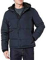 cheap -men's summit snap front puffer coat, navy, large