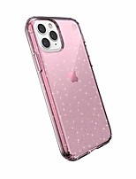 cheap -products compatible phone case for apple iphone 11 pro, presidio clear + glitter case, bella pink with gold glitter/bella pink