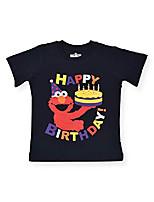 cheap -boy's elmo happy birthday pullover tee shirt, navy blue, size 12m