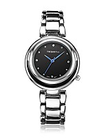 cheap -bosymart women's quartz analog silver-tone stainless steel dress watch