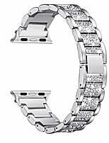 cheap -bling bands compatible with apple watch band 42mm 44mm women iwatch se series 6/5/4/3/2/1, dressy jewelry metal bracelet with rhinestones, silver