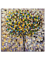 cheap -Hand Painted Canvas Oil Painting Abstract Color Trees Home Decoration With Frame Painting Ready To Hang With Stretched Frame