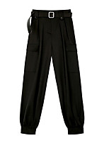 cheap -Women's Sporty Streetwear Comfort Daily Going out Jogger Sweatpants Pants Solid Colored Full Length Pocket Black Gray