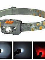 cheap -led headlamp bright led 3 modes outdoor night working fishing camping hiking head light lamp perfect for runners, lightweight, waterproof, adjustable headband grey