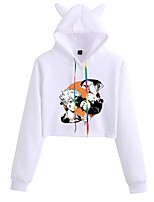 cheap -Inspired by Haikyuu Karasuno High Cosplay Costume Crop Top Hoodie Polyester / Cotton Blend Graphic Printing Crop Top For Men's / Women's