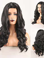 cheap -Cosplay Costume Wig Synthetic Wig Deep Wave Water Wave Middle Part Wig Long Black Synthetic Hair Women's Odor Free Fashionable Design Soft Black / Heat Resistant